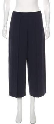 Rag & Bone High-Rise Wide-Leg Cropped Pants