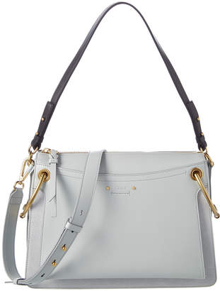 Chloé Medium Roy Suede & Leather Shoulder Bag