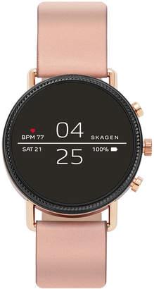 Skagen Women Falster 2 Blush Silicone Strap Touchscreen Smart Watch 40mm