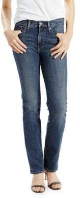 Levi's Washed Slimming Straight Jeans