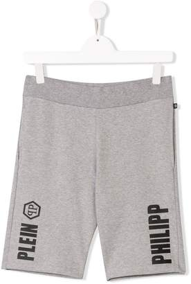 Philipp Plein Junior TEEN logo print casual shorts