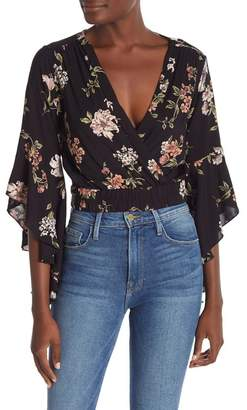 Angie Ruffled Bell Sleeve Top