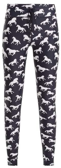 Ballet horse-print performance leggings