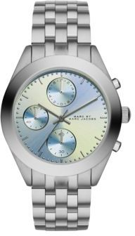 Marc by Marc Jacobs Peeker Stainless Steel Chronograph Bracelet Watch/Blue $225 thestylecure.com
