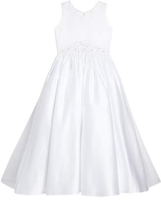 Joan Calabrese FOR MON CHERI Satin & Tulle First Communion Dress (Little Girls & Big Girls)