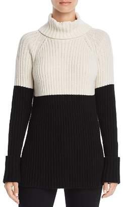 Aqua Color-Block Turtleneck Sweater - 100% Exclusive