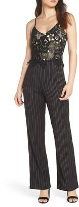 Heartloom Mona Stripe Lace Bodice Jumpsuit