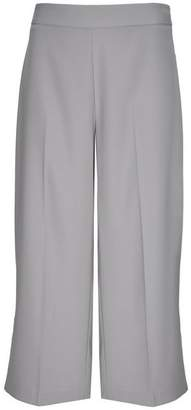 Wallis Grey Wide Leg Cropped Trouser