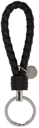 Bottega Veneta Black Intrecciato Knot Keychain
