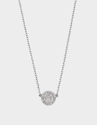 Vanessa Tugendhaft Lozenge Silver and Diamond on small chain