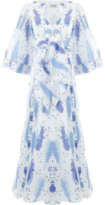 Thierry Colson floral short-sleeved dress