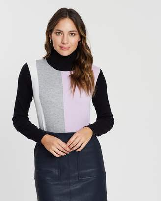 Wallis Vertical Colour-Block Jumper