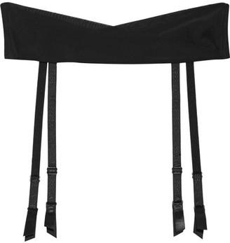La Perla - Lace Flirt Wrap-effect Stretch-silk Suspender Belt - Black $165 thestylecure.com