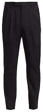 Ermenegildo Zegna Men's Stretch Cotton Pleated Trousers