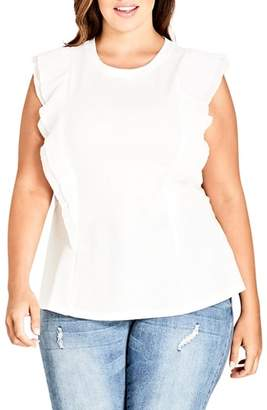 City Chic Chic Chic Aflutter Top