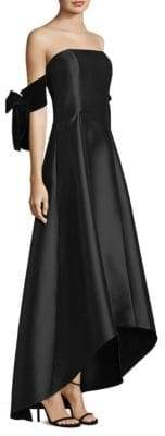 Sachin + Babi Kye Off-The-Shoulder High-Low Gown
