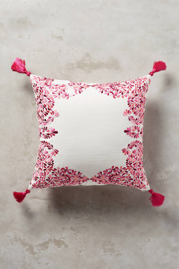 Anthropologie Anthropologie Embroidered Noella Pillow