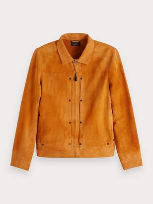Scotch & Soda Riveted Suede Jacket