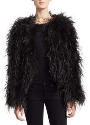 Julia & Stella Ostrich Feather Jacket