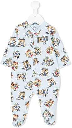 Moschino Kids sporty Teddy Bear print pajamas