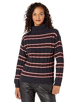 Cable Stitch Women's Stripe Turtleneck Sweater
