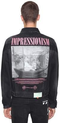 Off-White Impressionism Print Cotton Denim Jacket