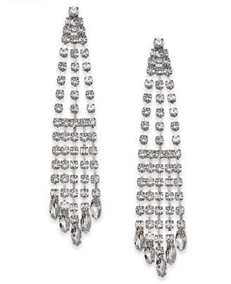 Nina Silver-Tone Crystal Chandelier Earrings