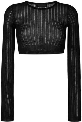 Diesel Black Gold cropped knitted top