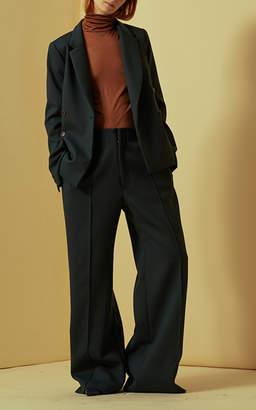 Sea Midnight Silk Jersey Bodysuit