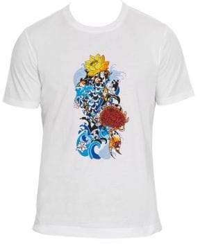Robert Graham Stop Being Koi Embroidered T-Shirt