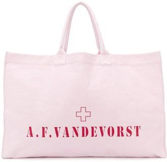 A.F.Vandevorst logo large tote bag