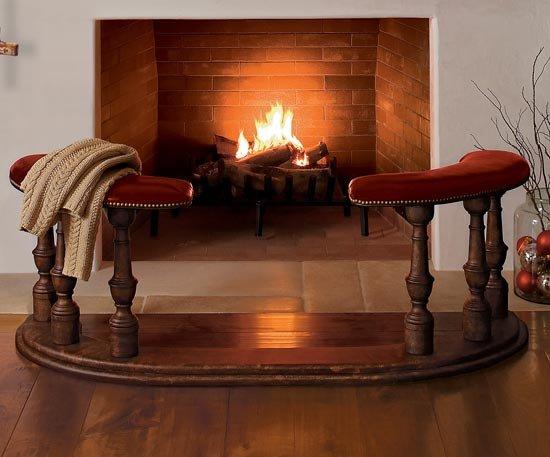 Fireplace Fender Bench