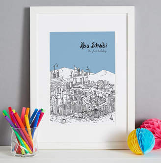 Tessa Galloway Illustration Personalised Abu Dhabi Print
