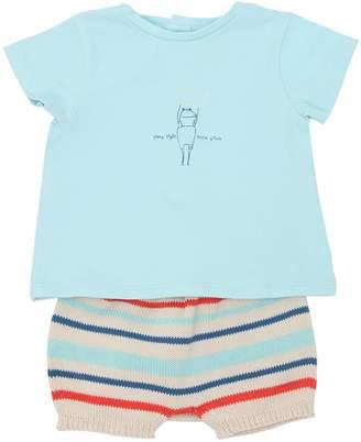 Cotton Jersey T-Shirt & Knit Shorts