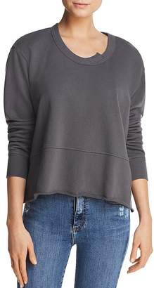 Wilt Raw-Edge Boxy Sweatshirt