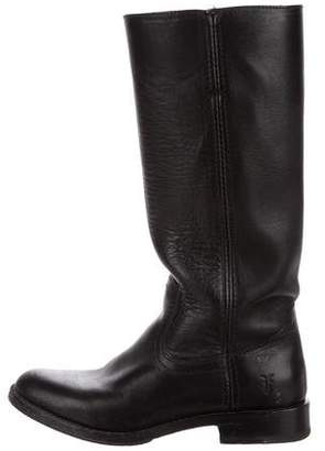 Frye Leather Round-Toe Knee-High Boots