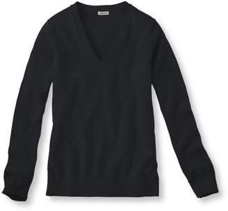 L.L. Bean L.L.Bean Women's Cotton Cashmere V-Neck Sweater