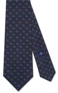 Gucci Silk tie with GG pattern