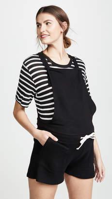 Monrow Maternity Short Overalls