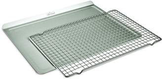 All-Clad D3 Stainless Steel 2-Piece Roasting Sheet Nonstick Cooling Rack Set