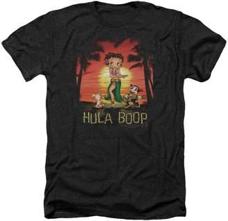 Betty Boop Hawaii Hula Boop Retro Cartoon Adult Heather T-Shirt Tee
