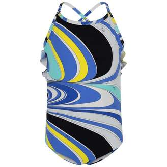 Pucci PUCCIGirls Blue Print Swimsuit