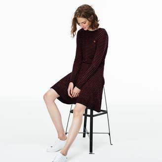 Lacoste Women's Fitted Wool Jersey Sweater Dress