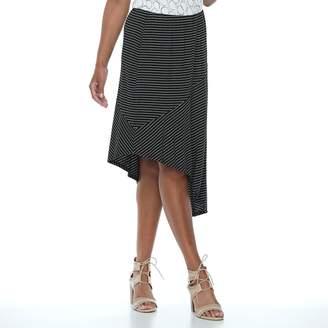 Apt. 9 Women's Asymmetrical Mix-Print Skirt