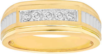MODERN BRIDE Mens 1/4 CT. T.W. Diamond 10K Yellow Gold Wedding Band
