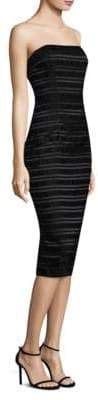 Black Halo Barker Striped Cocktail Sheath Dress