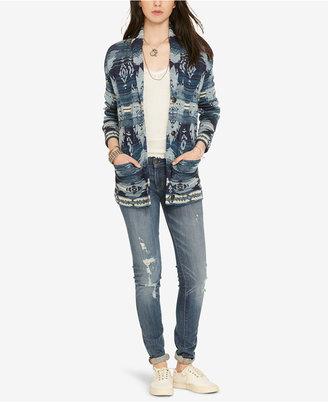 Denim & Supply Ralph Lauren Shawl Boyfriend Sweater $145 thestylecure.com