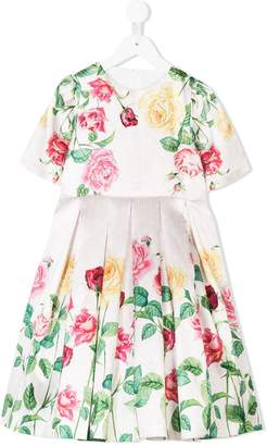 Love Made Love floral print pleated dress