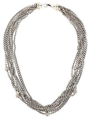David Yurman Pavé Diamond Ball Multistrand Necklace
