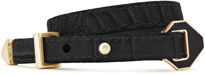 Reiss Edie DOUBLE STRAP LEATHER CUFF